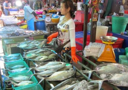 Морепродукты Тайланда - рынок Наклуа